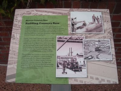 Building Cannery Row Marker image. Click for full size.