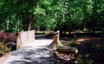 Hatcher Garden & Woodland Preserve Walking Bridge image. Click for full size.