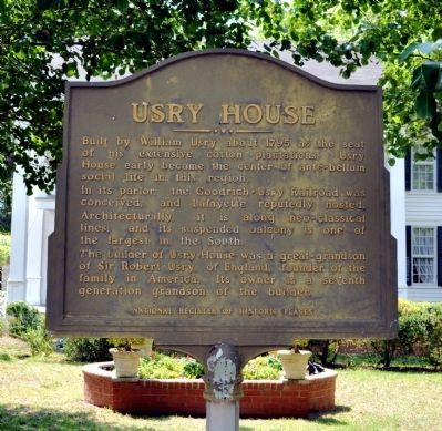 Usry House Marker image. Click for full size.
