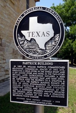 Partrick Building Marker image. Click for full size.