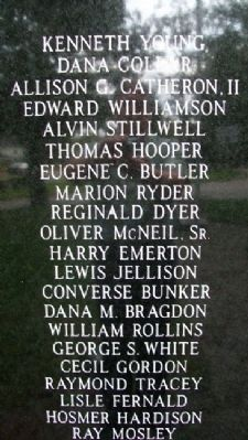 Franklin Veterans Memorial WWI Honor Roll image. Click for full size.