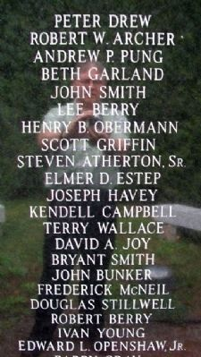 Franklin Veterans Memorial Vietnam Era Honor Roll image. Click for full size.