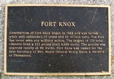 Fort Knox Marker image. Click for full size.