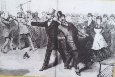 Guiteau mortally wounds President Garfield image. Click for full size.