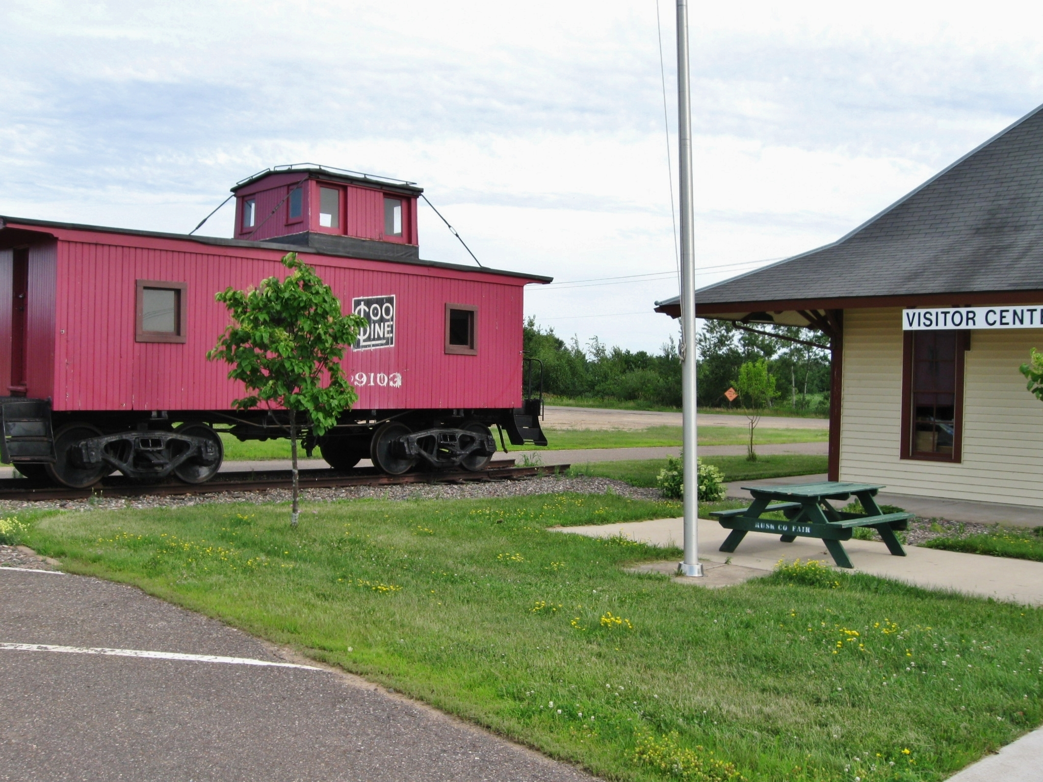 Caboose at Visitor