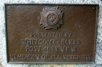 Whitcomb-Baker VFW Post 4633 Veterans Memorial Marker image. Click for full size.