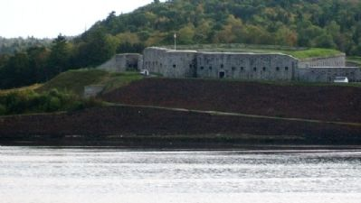 View of Fort Knox from Bucksport image. Click for full size.