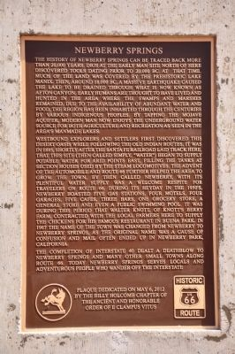 Newberry Springs Marker image. Click for full size.