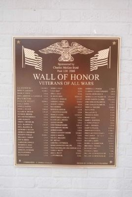Wall of Honor 2008 Plaque image. Click for full size.