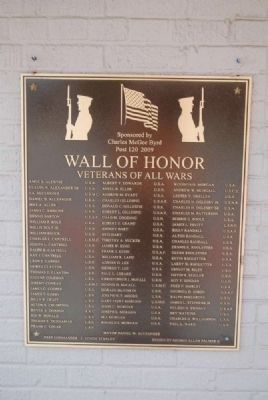 Wall of Honor 2009 Plaque image. Click for full size.