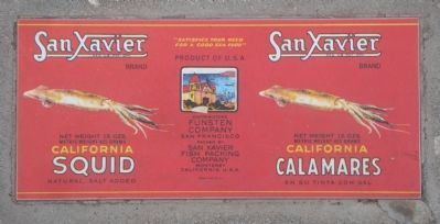 San Xavier Calamares Can Lable image. Click for full size.