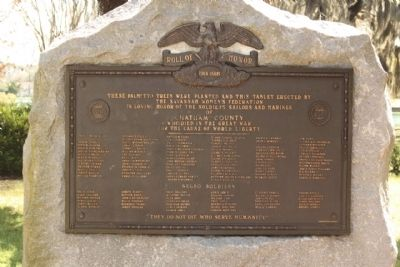 Roll of Honor Marker image. Click for full size.