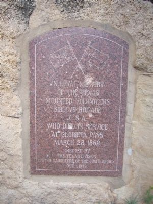 Confederate marker at Glorieta Pass image. Click for full size.