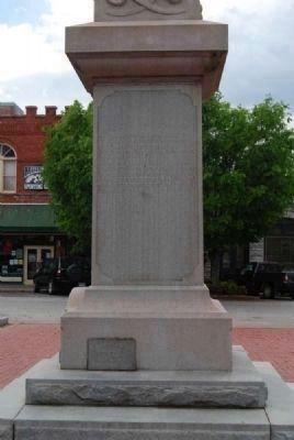 Elbert County Confederate Monument<br>North Facing image. Click for full size.
