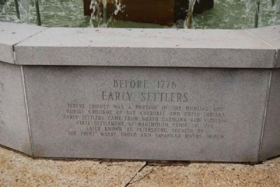 Elberton Granite Bicentennial Memorial Fountain<br>Second Panel image. Click for full size.