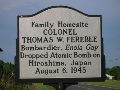 Colonel Thomas W. Ferebee Marker image. Click for full size.
