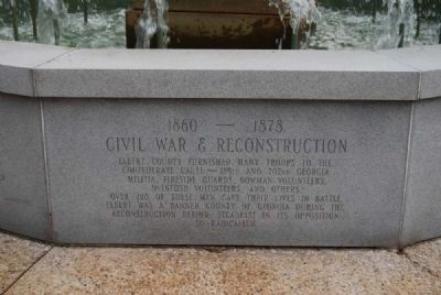 Elberton Granite Bicentennial Memorial Fountain<br>Eighth Panel image. Click for full size.