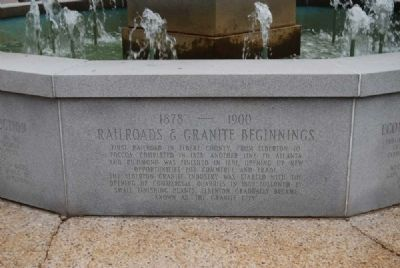 Elberton Granite Bicentennial Memorial Fountain<br>Ninth Panel image. Click for full size.