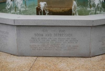 Elberton Granite Bicentennial Memorial Fountain<br>Eleventh Panel image. Click for full size.