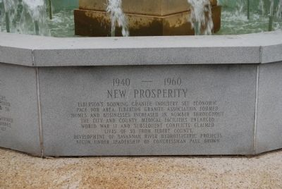Elberton Granite Bicentennial Memorial Fountain<br>Twelfth Panel image. Click for full size.