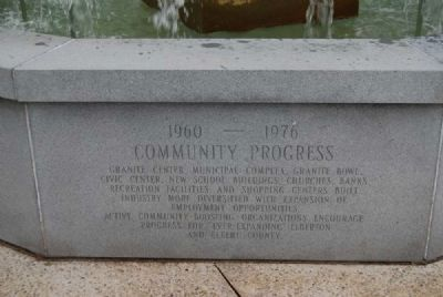 Elberton Granite Bicentennial Memorial Fountain<br>Thirteenth Panel image. Click for full size.