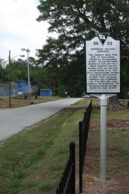 Newberry Village Cemetery Marker, looking south on Coates Street image. Click for full size.