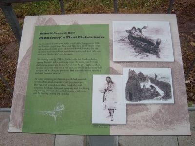 Monterey's First Fishermen Marker image. Click for full size.
