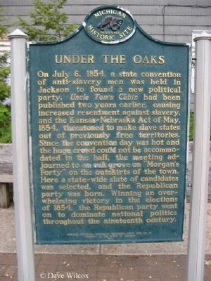 Under the Oaks Marker image. Click for full size.