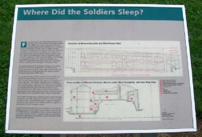 Where Did the Soldiers Sleep? Marker image. Click for full size.