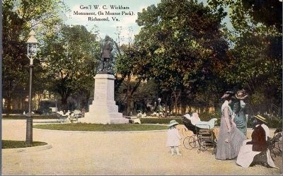 Gen'l W.C. Wickham Monument (In Monroe Park), Richmond, Va. image. Click for full size.