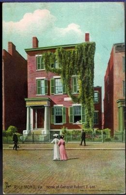 Home of General Robert E. Lee, Richmond, Va. image. Click for full size.