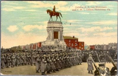General R.E. Lee Monument and V.M.I. Cadets, Richmond, Va. image. Click for full size.
