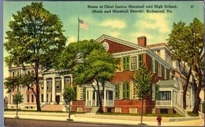 Home of Chief Justice Marshall (9th and Marshall Street), Richmond, Va. image. Click for full size.