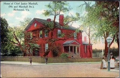 Home of Chief Justice Marshall, (9th and Marshall Sts)., Richmond, Va. image. Click for full size.