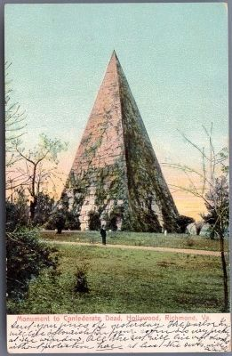 Monument to Confederate Dead, Hollywood, Richmond, Va. image. Click for full size.