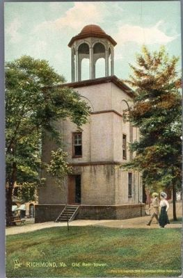 Old Bell Tower, Richmond, Va. image. Click for full size.
