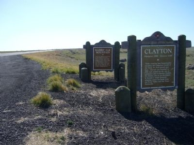 Clayton and Rabbit Ear Mountain Markers image. Click for full size.