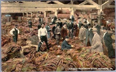 Tobacco Warehouse Scene, Richmond, Va. image. Click for full size.
