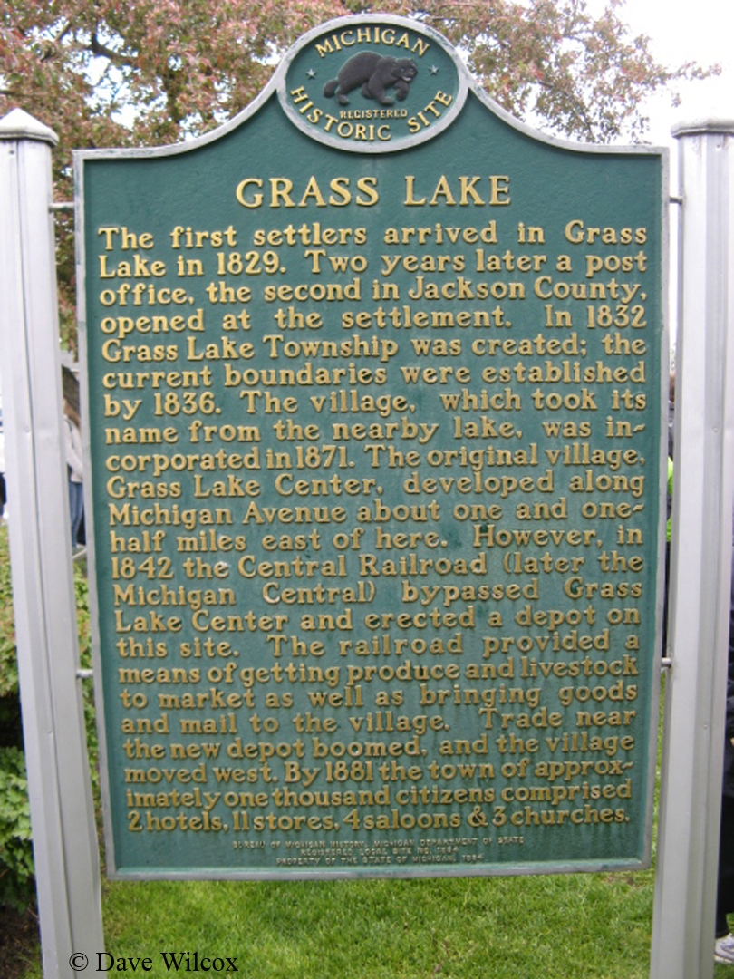 Grass Lake (Michigan) Marker