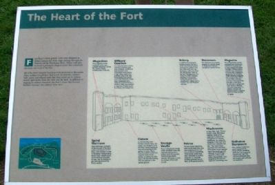 The Heart of the Fort Marker image. Click for full size.