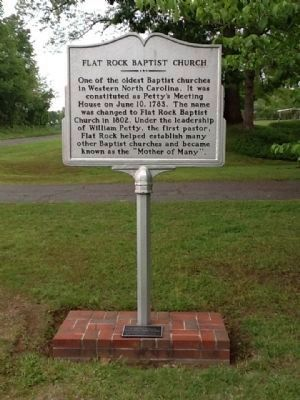 Flat Rock Baptist Church Marker (side A) image. Click for full size.