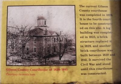 Gibson County Courthouse of 1839-1841 image. Click for full size.