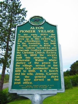 Alton Pioneer Village Marker image. Click for full size.