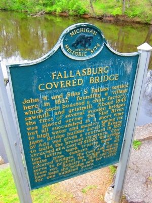 Fallasburg Covered Bridge Marker image. Click for full size.