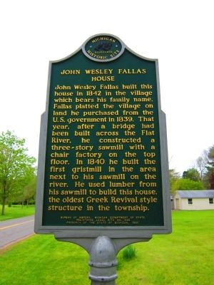 John Wesley Fallas House Marker image. Click for full size.