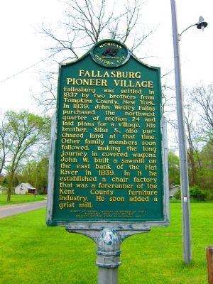 Fallasburg Pioneer Village Marker image. Click for full size.
