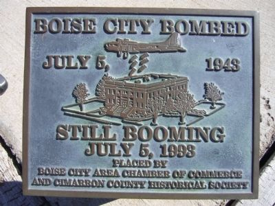 Boise City Bombed Marker image. Click for full size.