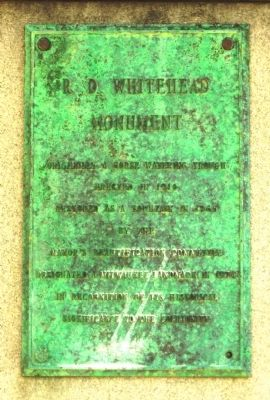R.D. Whitehead Monument Marker image. Click for full size.