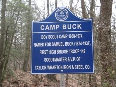 Camp Buck Marker image. Click for full size.