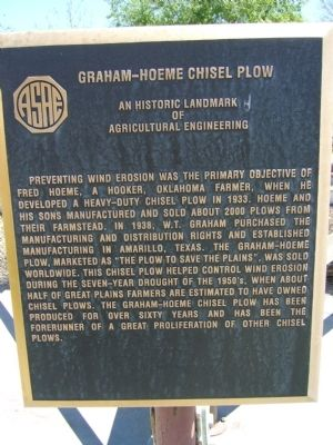 Graham – Hoeme Chisel Plow Marker image. Click for full size.